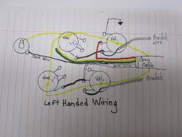 converting your gibson wiring to a left handed orientation be we could create a left handed wiring database