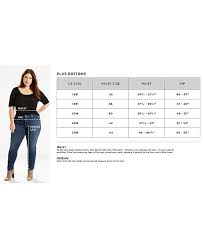 Levis Size Chart For Women S Jeans Trendy Plus Size Pull On Jeggings