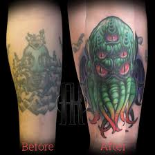 Andy Did This Cthulhu Cover Up Electric Chair Tattoo Facebook