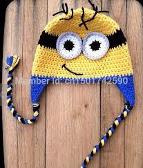 Minion Hat Crochet Pattern Beauteous Lovely Minions Hat Crochet Baby Children Cotton Pegman Hat Cartoon