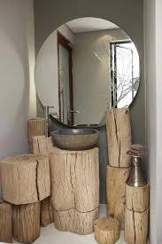bathroom diy ideas. Bathroom With Wood Stump Vanity Space. Diy Ideas