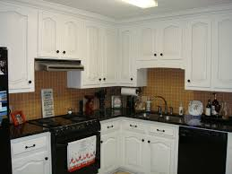 Small Picture Kitchen With White Cabinets And Black Appliances Aria Kitchen