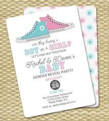 Gender Reveal Invitation Baby Boy Or Baby Girl Announcement Gender