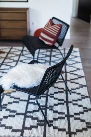 mid century modern chairs ikea. ikea viktigt chairs with red pillow and sheepskin throw midcentury -living-room mid century modern ikea u