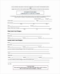 Beautiful Emergency Medical Information Form Template