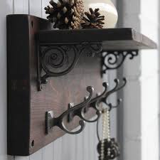 Rustic Wall Coat Rack With Shelf Reclaimed Wood Victorian Coat Hook Shelf Coat hook shelf Rustic 37