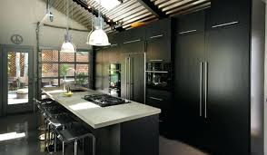modern black white. Modern Black Kitchens A Kitchen With Steel Fixtures And Flat Doors White F