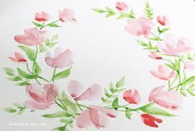 watercolour fl wreath tutorial