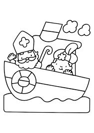 Kleurplaat Sinterklaas En Zwarte Piet 2824