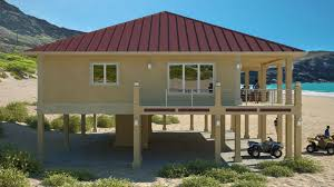 Clearview P   sq ft on piers   Beach House Plans by Beach    Clearview Model P  House Features