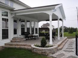 Garage Patio Designs Covered Back Porch Build Off Detached Garage Perhaps