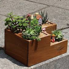 office flower pots. LightningStore Wooden Flower Pot Succulent Plants Microlandschaft Personalized Office House Balcony Landscape Creative Decorative Pots + M