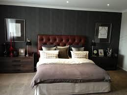 men bedroom design ideas. Bedroom:Attractive Masculine Bedrooms Design Ideas With Grey Concrete Floor And Brown Leather Tufted Headboard Men Bedroom