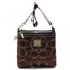 Coach Swingpack In Signature Medium Coffee Crossbody Bags AWV