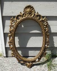 mirror frame. Brass-colored Mirror Frame