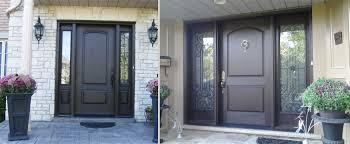 modern fiberglass entry doors. entry door rustic single fiberglass solid with 2 iron art side panel installed by modern doors s