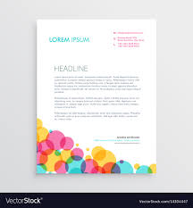 Letterhead Designs Templates Creative Letterhead Design Template With Colorful Vector Image