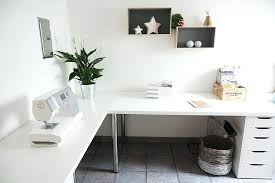 l shaped home office. L Shaped Desk White Monarch Hollow Core Home Office