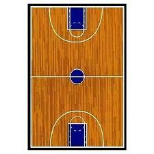 supreme basketball court sports brown area rug large fun rugs
