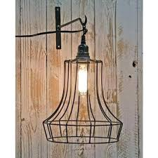 bell shape wire swag pendant lamp ceiling light no wiring uk lamps
