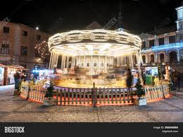 Cathedral Square Park Christmas Lights Toledo Spain Image Photo Free Trial Bigstock