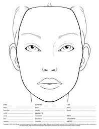 40 Blank Face Chart Templates Male Face Charts And Female Face Best Printable Face Templates