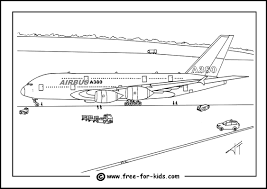 Aeroplane Colouring Page - FunyColoring