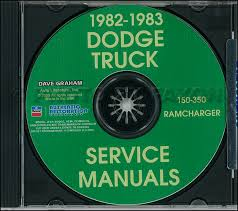 1982 dodge pickup truck ramcharger repair shop manual original related items