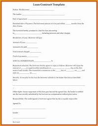 041 Free Template For Loan Agreement Between Friends Of