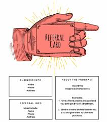 Referral Cards Template Clipart Images Gallery For Free