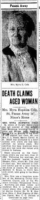 Myra Hopkins - Newspapers.com