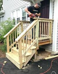 premade deck stairs steps for mobile homes wooden concrete fiberglass 6 premade outdoor deck stairs