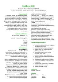 a hotel manager resume template that is well laid out has a eye catching design cv format resume