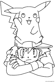 Print Pikachu S With Ash1509 Coloring
