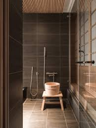 Japanese Bathrooms Design Modern Decoration And Concrete Tile Wall And Flooring For Home