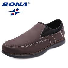 <b>BONA New Fashion Style</b> Men Casual Shoes Lace Up Loafers Slip ...