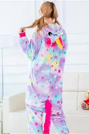 Womens Disney Stitch One Piece Flannel Pajamas With Star Print