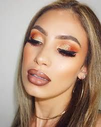 alluring golden orange sparkling eye color for dashing looks