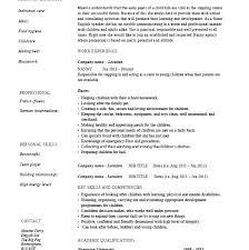 Nanny Resume Mesmerizing Example Of Nanny Resume Sample Nanny Resumes Sample Of Nanny Resume