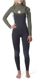 2019 Rip Curl Womens Dawn Patrol 4 3mm Chest Zip Wetsuit White Wsm9bs