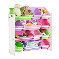 kids toy storage furniture. Honey-Can-Do SRT-01603 Kids Toy Organizer And Storage Bins, White Kids Toy Storage Furniture T