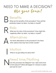 Bradley Birth Plan Template Free Printable Brain Acronym Birth Birth Plans Pinterest Doula