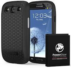 samsung galaxy s3. powerbear samsung galaxy s3 extended battery [4500mah] \u0026 back cover protective case ( i