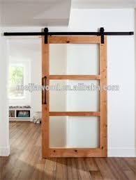 three frosted gl panel unfinished knotty glazed barn door with sliding door hardware
