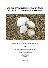 PDF) A review of issues related to depletion of populations of selected  infaunal bivalve species in the Hauraki Gulf Marine Park | Brenda Hay -  Academia.edu