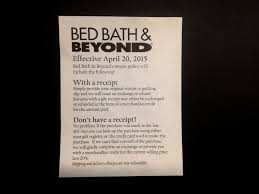 photo bed bath beyond will deduct 20 percent of value from items returned without