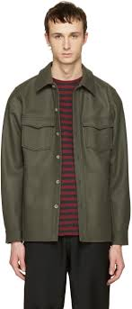 a p c green bleach house shirt men apc coats for free delivery