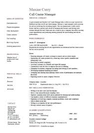 Sample Call Center Resume Call Centre Resume Sample For Call Center