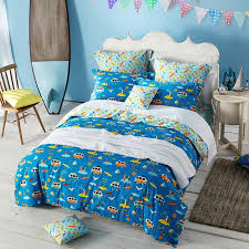 rust orange aqua yellow and ocean blue nautical tropical themed holiday style 100 cotton twin full queen size bedding sets