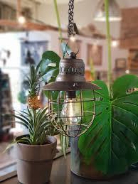 Verlichting Hanglamp Metaal Met Led Lamp Op Batterij